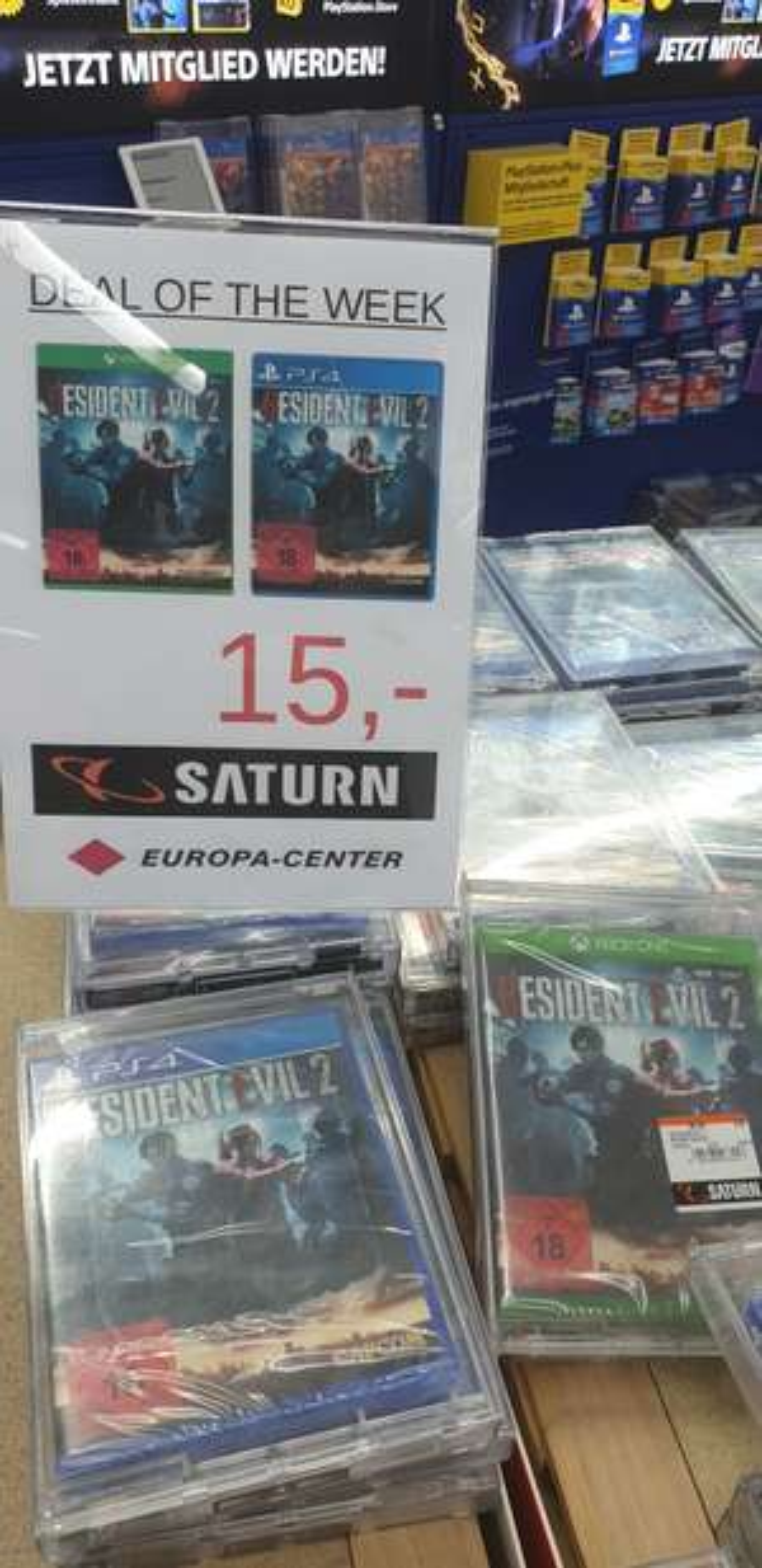 [Lokal] Berlin Europa Center(ganz Berlin möglich) Saturn Resident Evil 2 Remake (PS4 & XBOX)