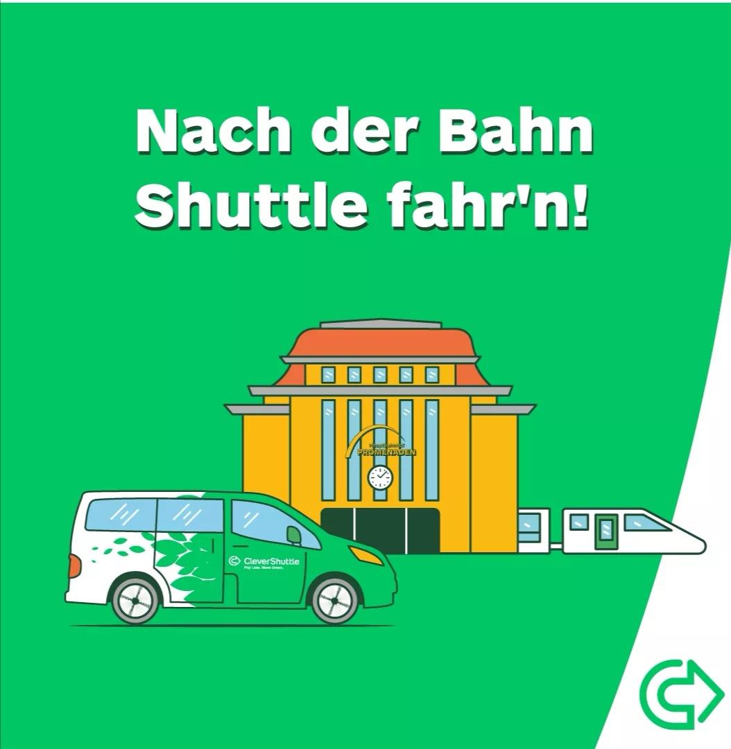 [lokal] 25% Rabatt auf jede Fahrt mit CleverShuttle vom/zum Hauptbahnhof Leipzig
