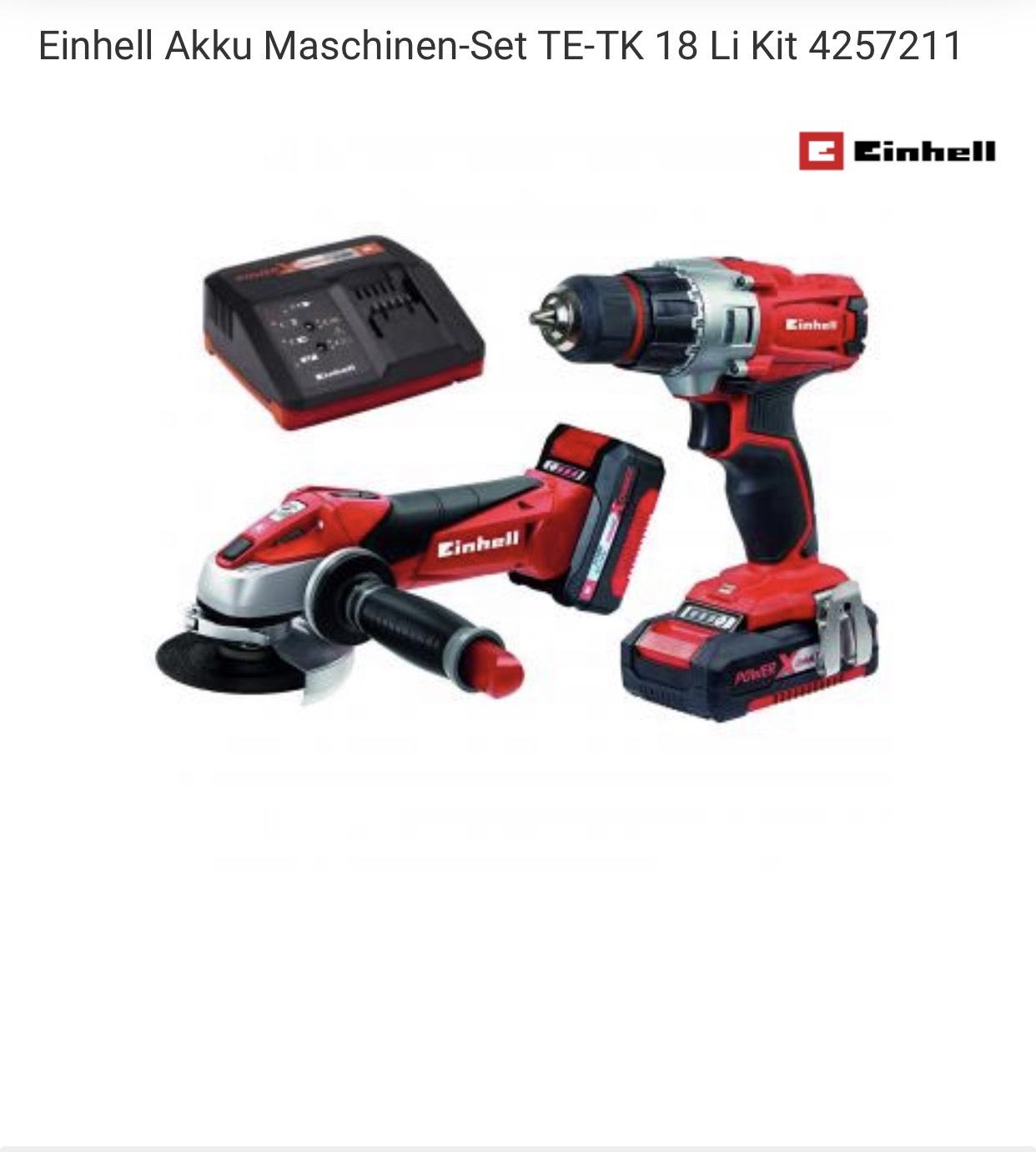 Einhell Akku Maschinenset TE-TK 18 Li Kit + 1.5 Ah und 3.0 Ah Power X-Change Akku + Schnellladegerät Power X-Change + kostenloser Versand