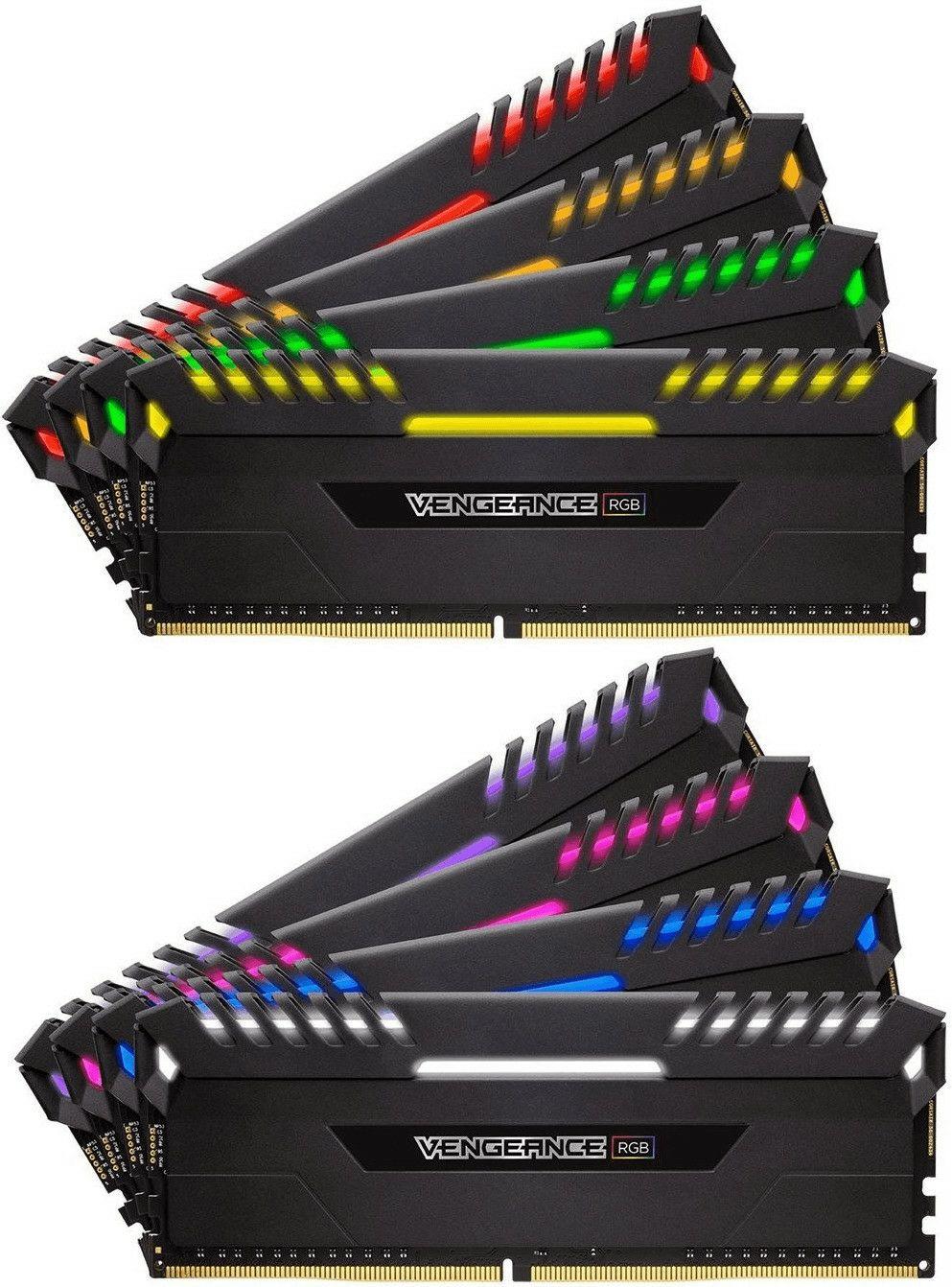 Corsair Vengeance RGB 64GB (8 x 8GB) DDR4 3800MHz C19 XMP 2.0 Enthusiast RGB LED-Beleuchtung Speicherkit, schwarz