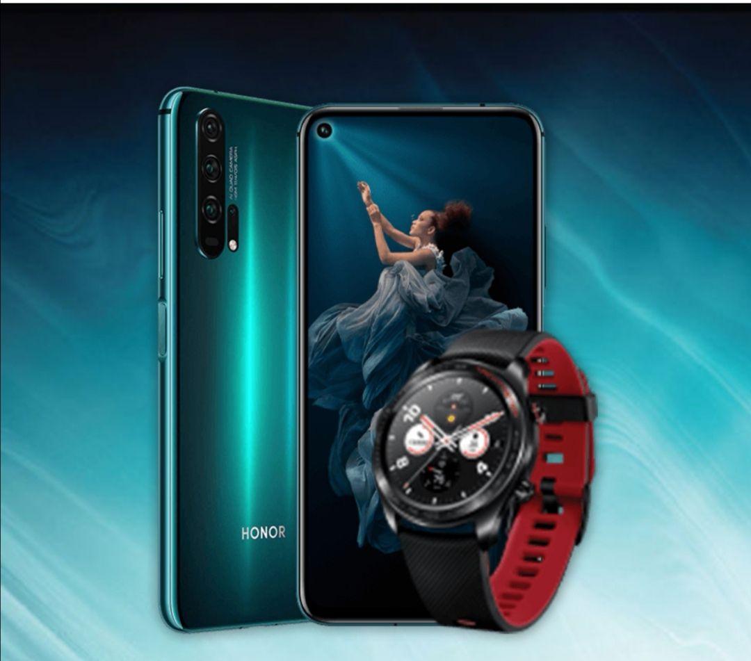HONOR 20 Pro 256 GB Phantom Black + Honor Watch Magic für 499€ Media Markt