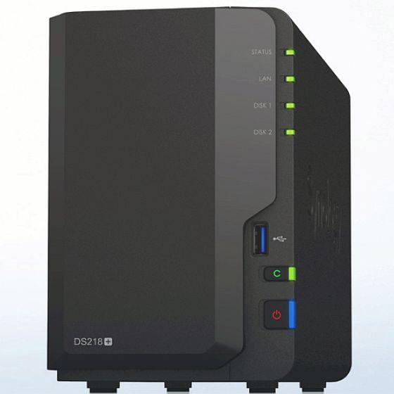 Synology DiskStation DS218+ mit 2x 10TB WD Ultrastar DC HC510