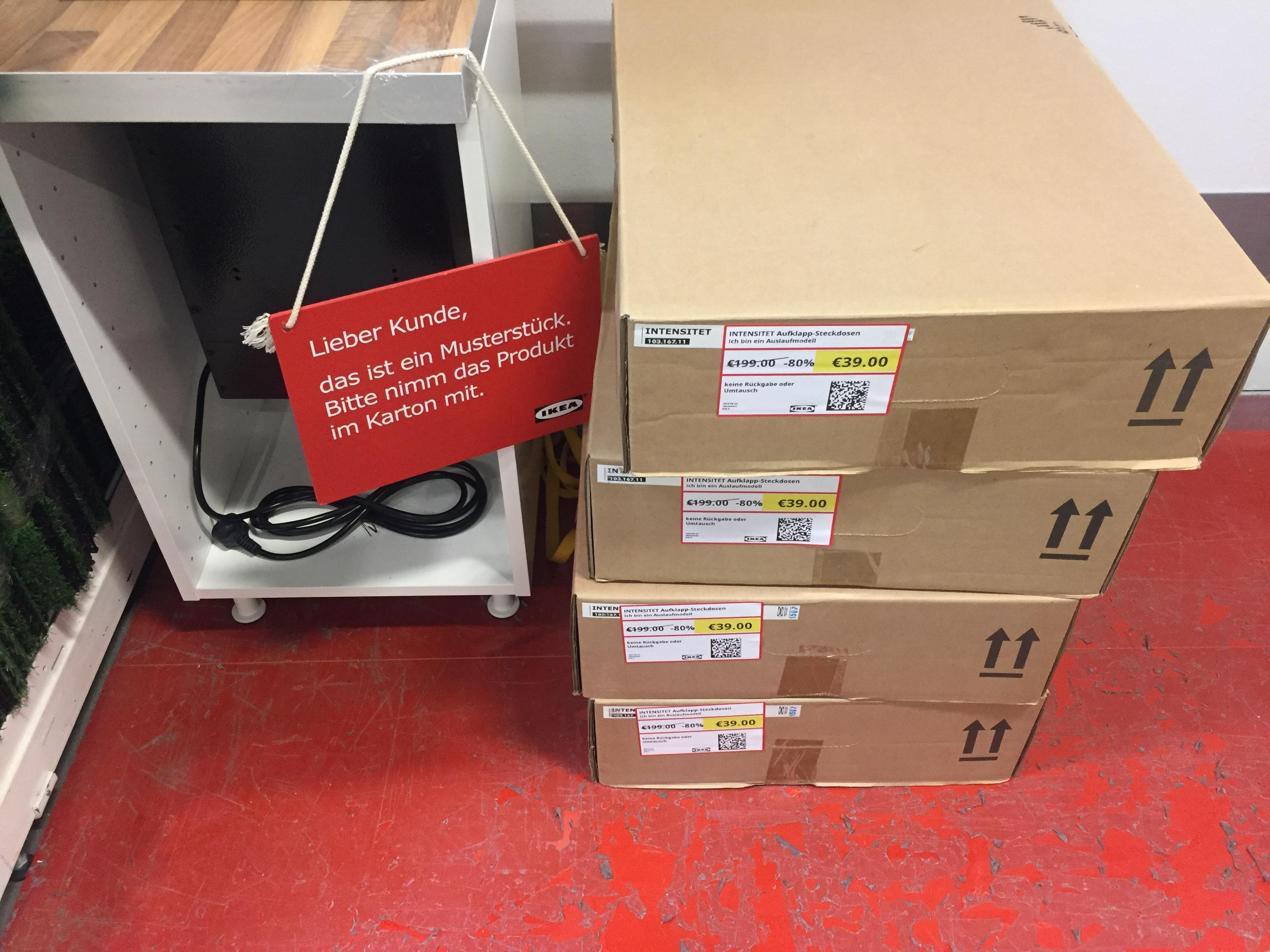 [LOKAL] Ikea Lübeck — Itensitet Aufklapp-Steckdosen