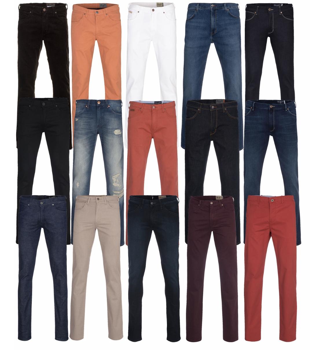 6x Wrangler Jeans & Chino Restgröße nur 29,94€ inkl. Versand! (1x 4,99€ exkl. VSK)