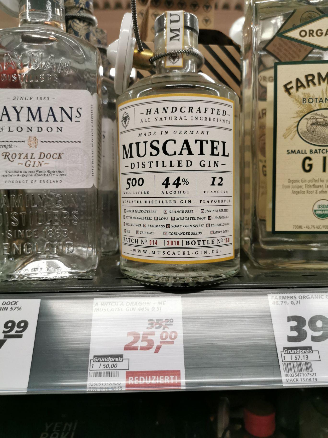 [Lokal] real Hamm - Muscatel Destilled Gin 0,5 l