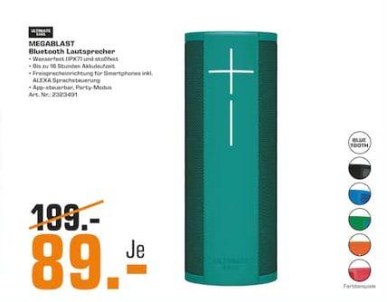 [Regional Saturn Köln] Ultimate Ears - UE MEGABLAST Bluetooth Lautsprecher in vielen Farben für je 89,-€