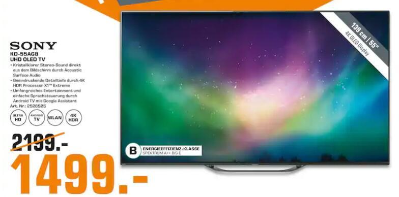 "[Lokal: Saturn Köln] Sony KD-55AG8 55"" 4K UHD OLED Smart TV"