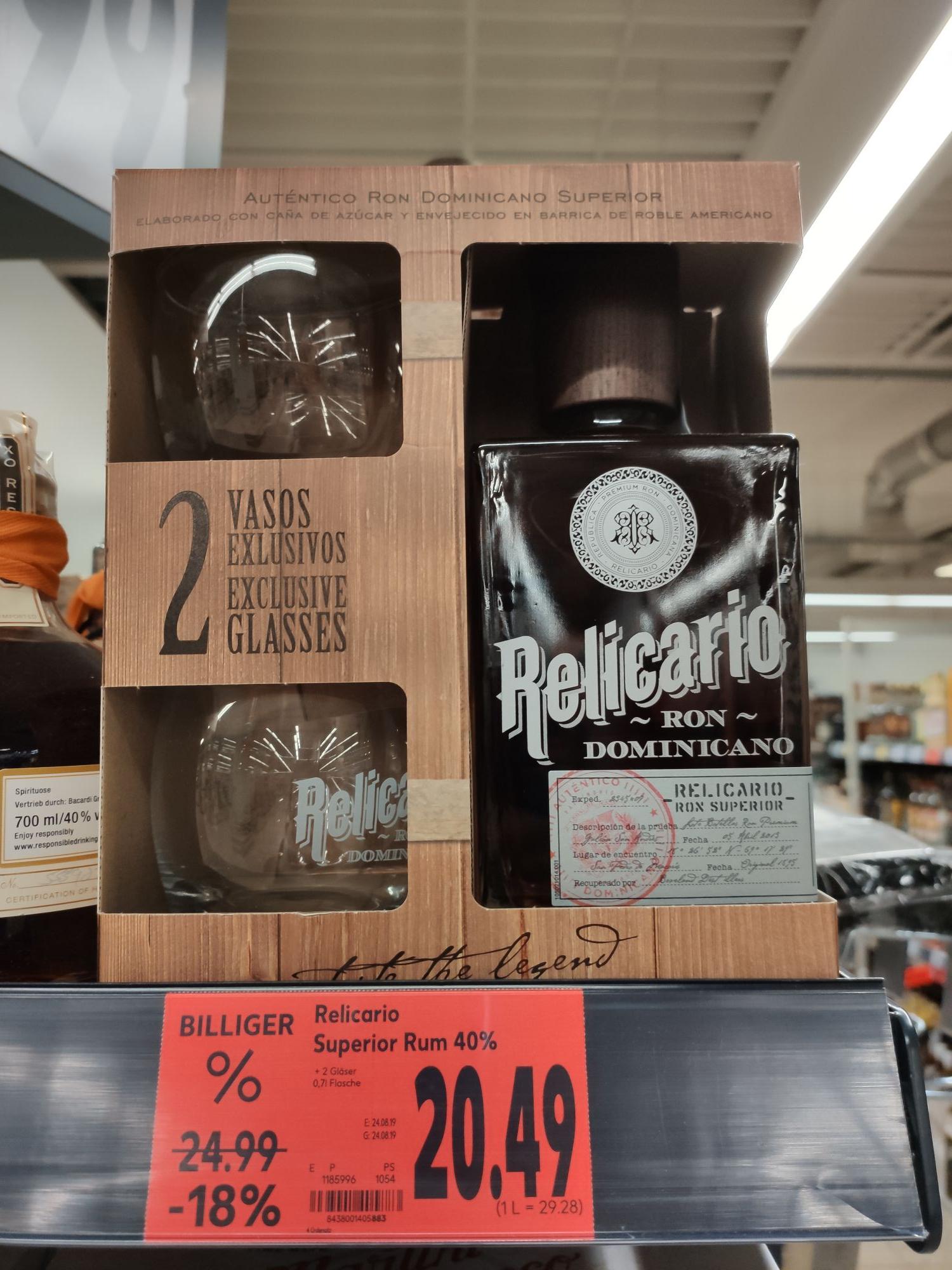[Lokal Kaufland Friedrichshafen] Relicario Superior Rum, 10 Jahre, Dominikanischen Republik