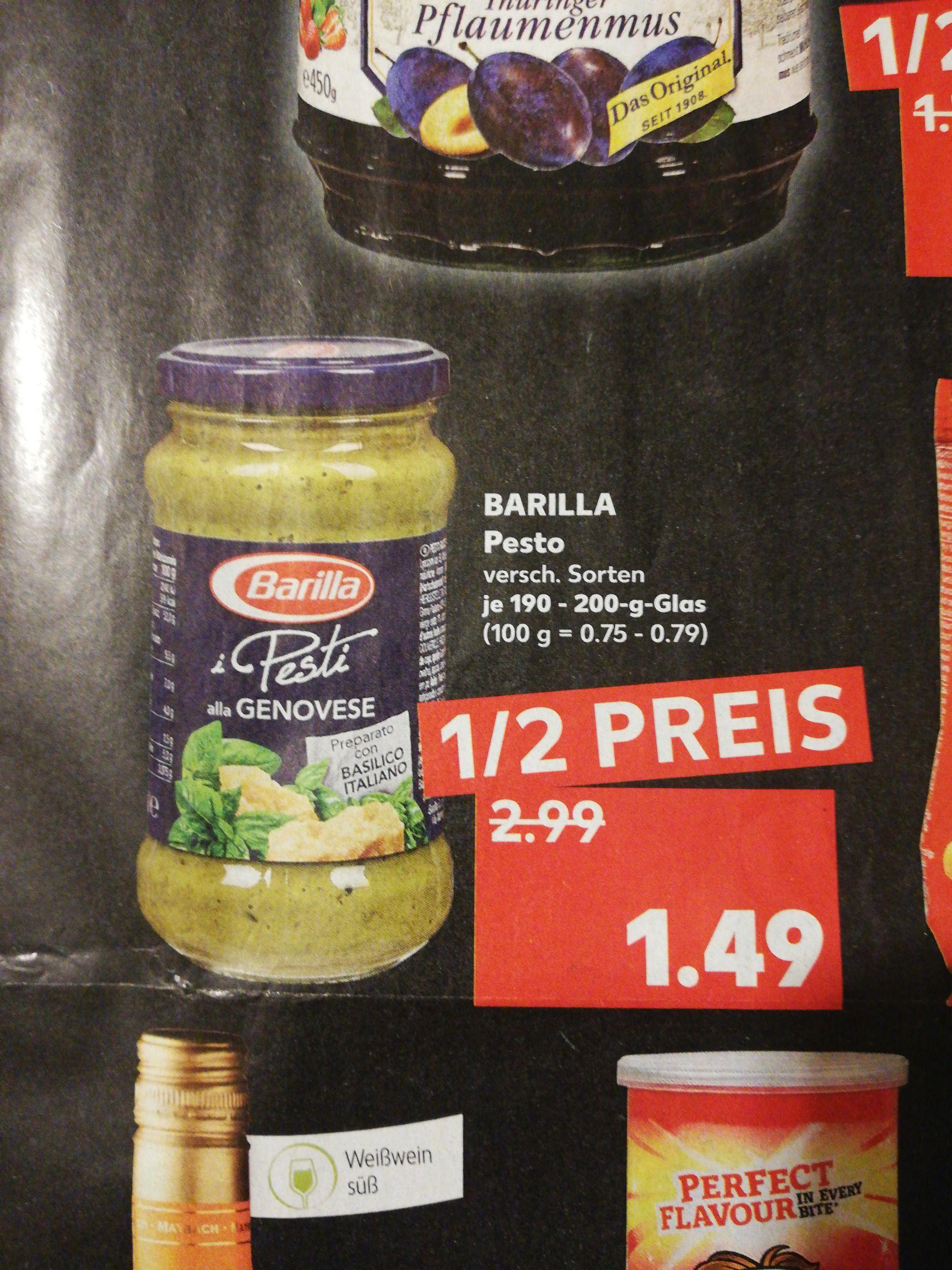 [Kaufland] Barilla Pesto 1,49€ verschied. Sorten vom 29.08 bis 04.09