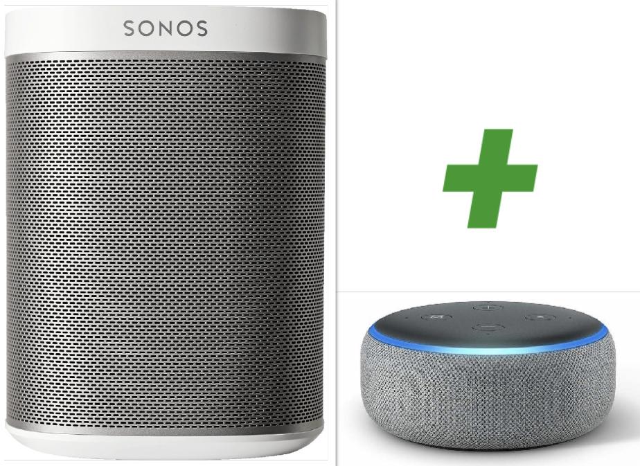 Sonos PLAY:1 weiss + Gratis Echo Dot für zusammen 148,73€ inkl. Versandkosten