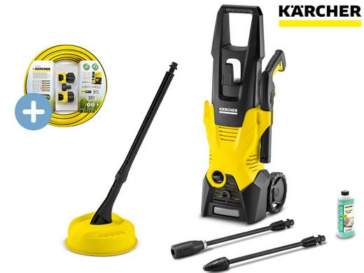 """Kärcher Hochdruckreiniger """"K3 Home"""" (Inkl. Flächenreiniger T150 + Wasseranschluss-Set, 1600 W, 20-120 bar, max. 380l/h, 6m Schlauch) [iBOOD]"""
