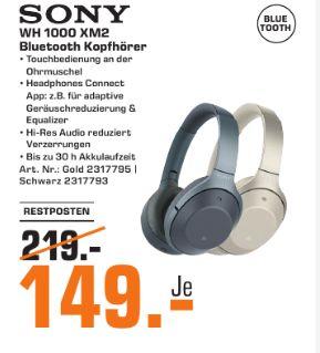 [Regional Saturn Bochum/Hattingen] Sony Kabelloser High-Resolution WH-1000XM2 Kopfhörer (Noise Cancelling) für 149,-€