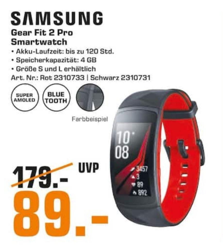 [Lokal Saturn Hamburg] Samsung Gear Fit 2 Pro Rot & Schwarz Größen S/Lfür 89€
