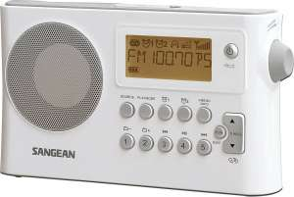 Sangean PR-D14 USB tragbares Radio (UKW/MW-Tuner, RDS, LCD-Display, AUX-In, USB)