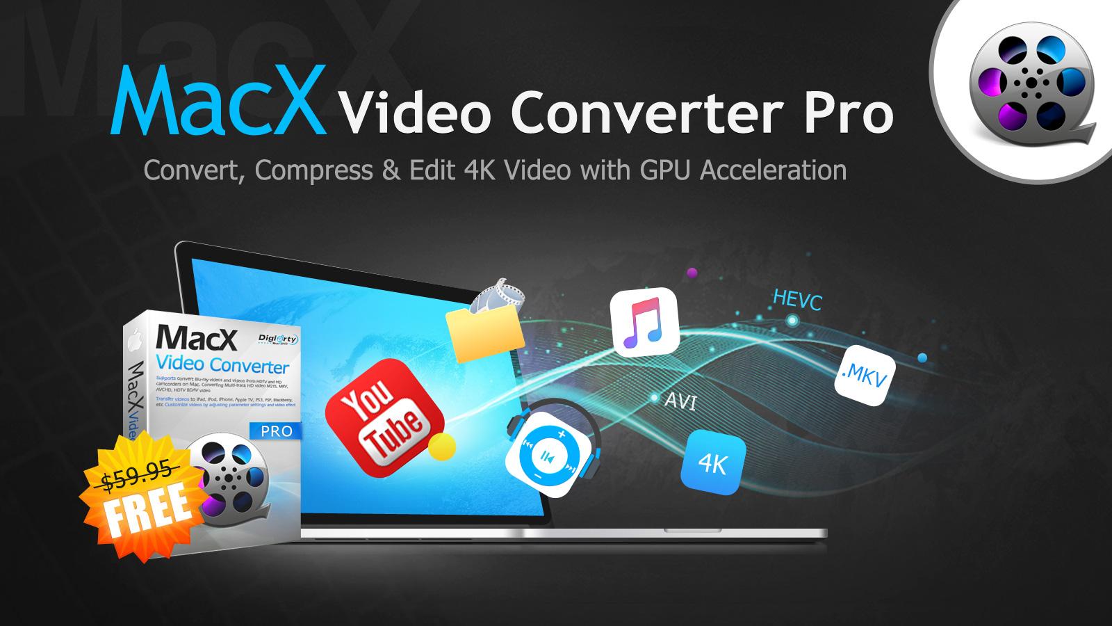 MacX WinX Video Converter Pro für MacOS und Windows kostenlos