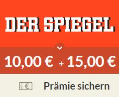 [Spartanien] 6 x Der Spiegel + 25€ Amazon-Gutscheine