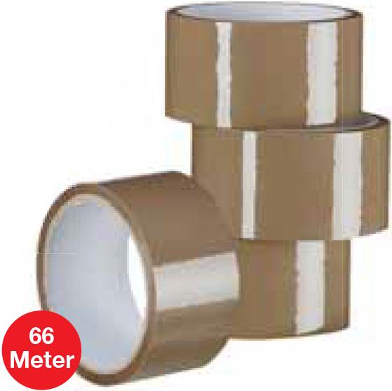 Paketklebeband, 66 Meter-Rolle für nur 65 Cent bei (Jawoll)
