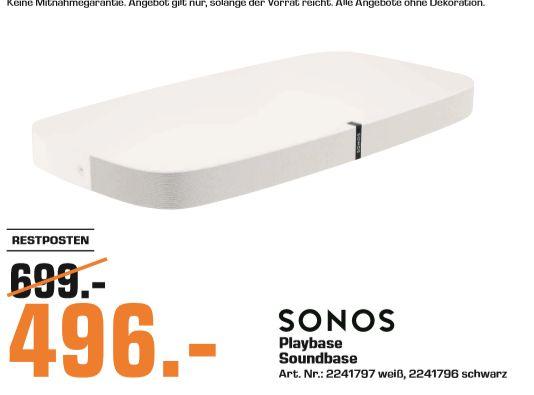 [Regional Saturn Bochum/Hattingen] Sonos Playbase WLAN - Soundbase (WLAN (WiFi), LAN (Ethernet), in 2 Farben für je 496,-€