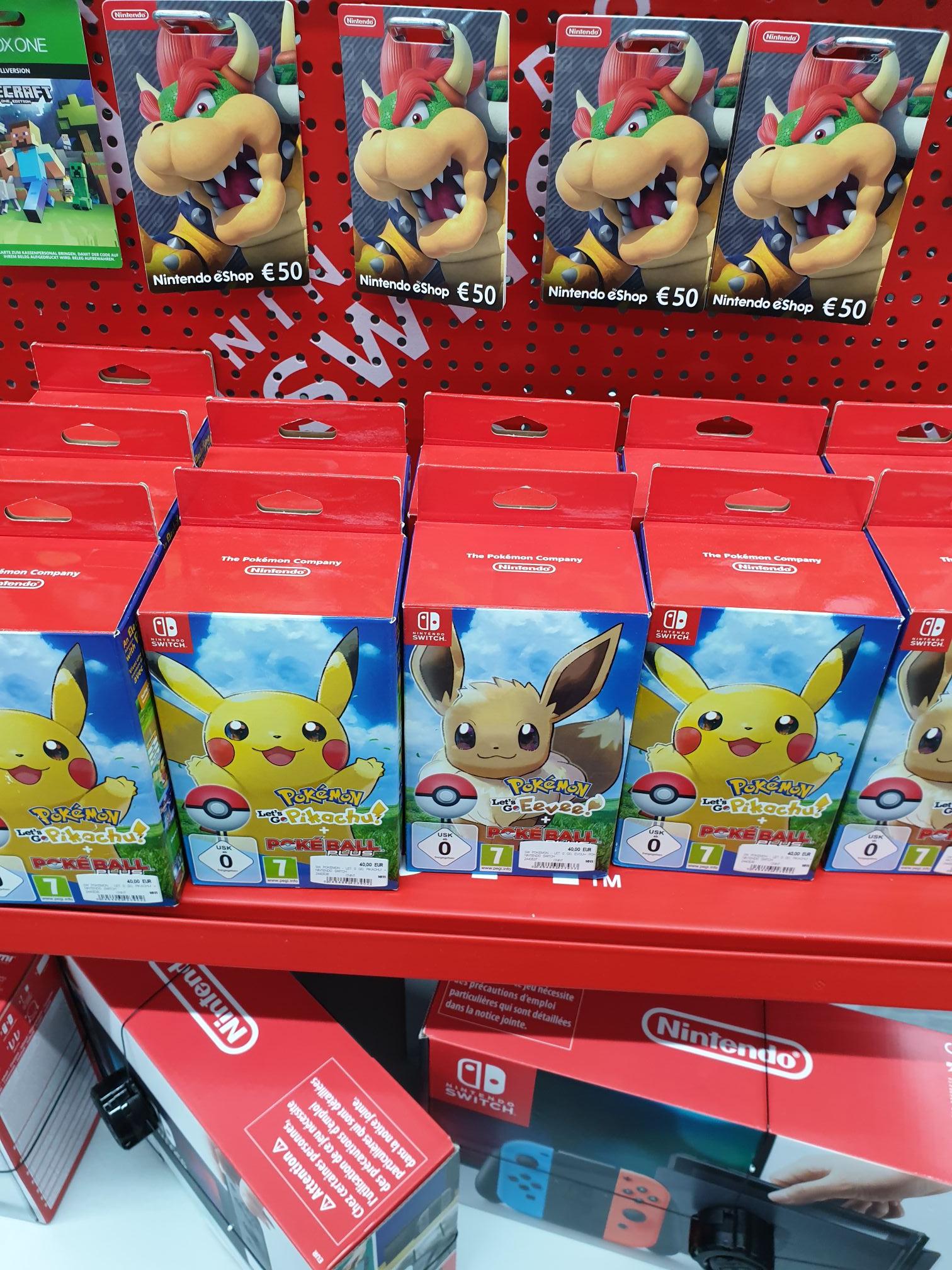 [Lokal Berlin? MM] Pokémon Let's Go Pikachu/Evoli + Pokéball Plus