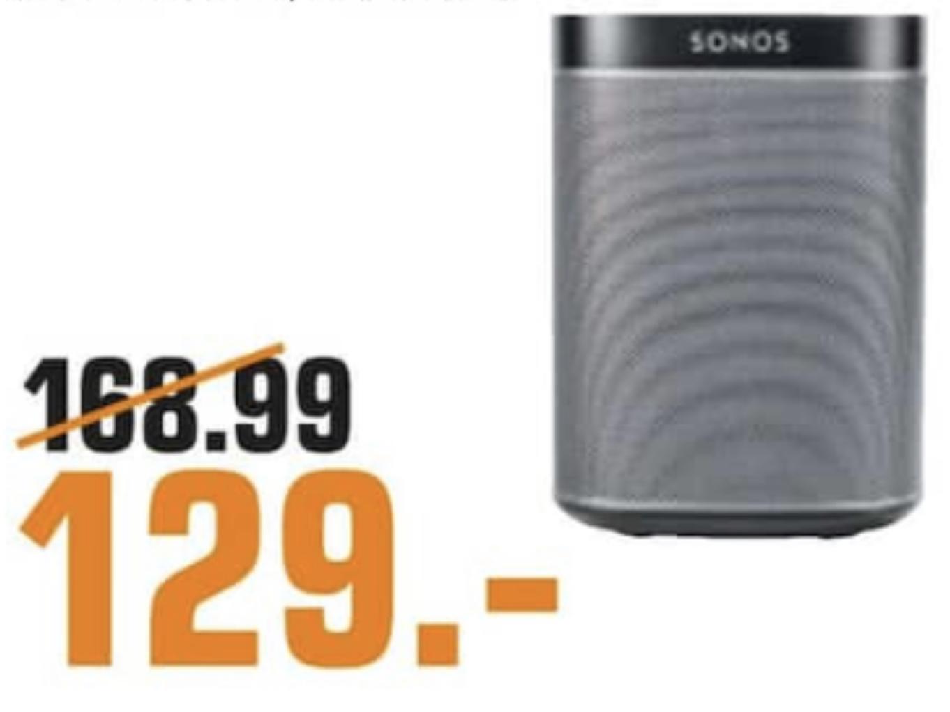 Lokal Saturn Neckarsulm: Sonos Play:1 in schwarz o. weiss für je 129€