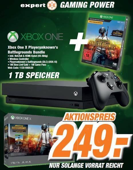 [LOKAL Dinslaken & Neuss] Xbox One X + Pubg für 249€ Expert ggf. Versand
