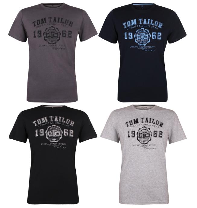 4er-Pack Tom Tailor Herren-T-Shirt Tee Basic - S-3XL - 100% Baumwolle