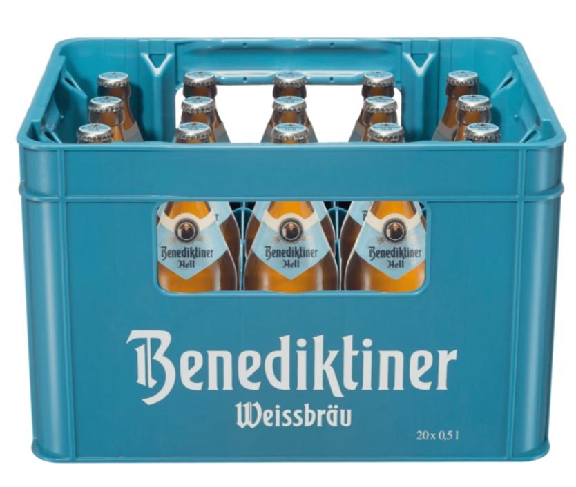 20*0,5l Benediktiner Hell - lokal Freiburg