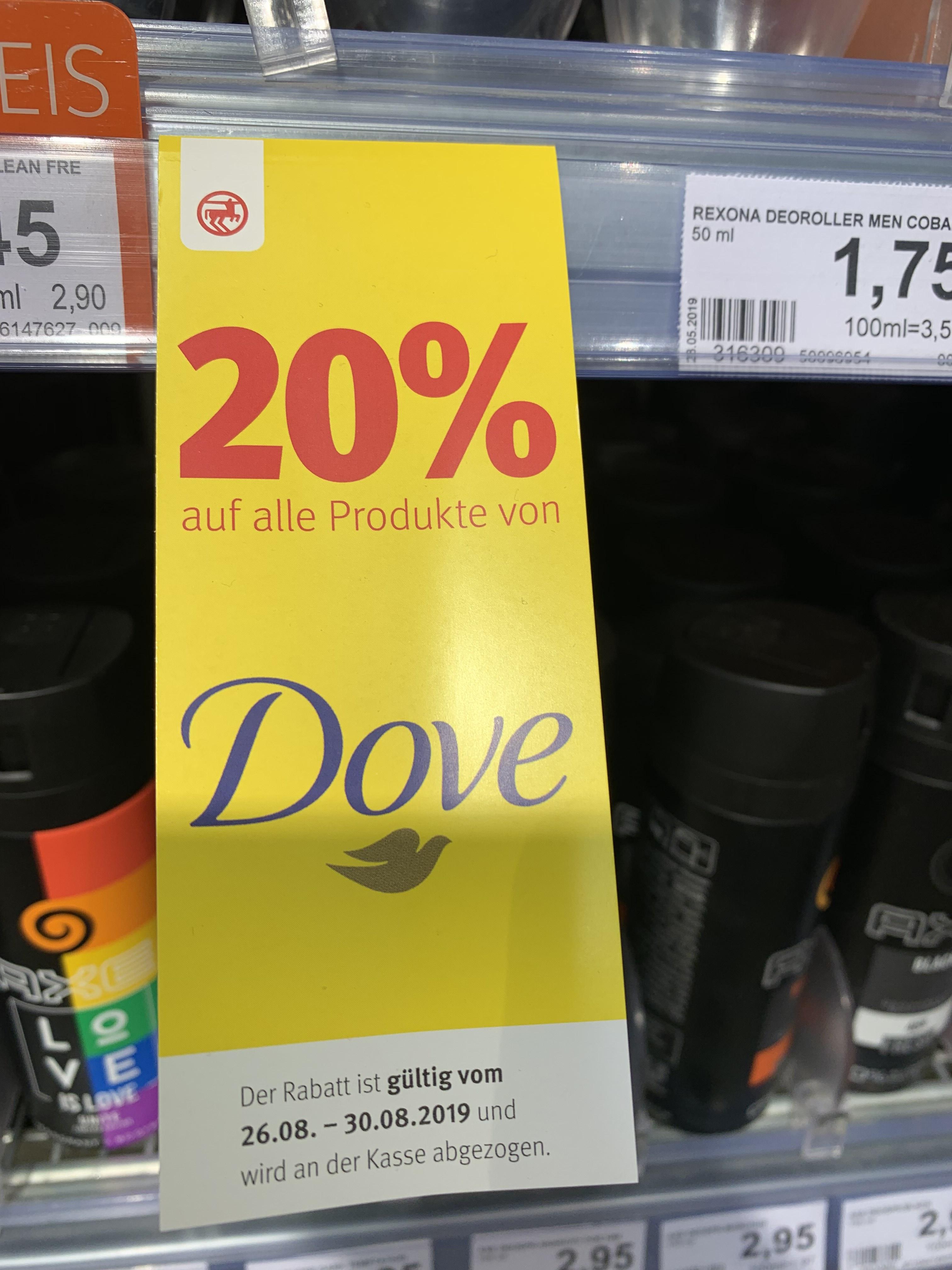 [LOKAL] oder Bundesweit Rossmann 20% auf Dove