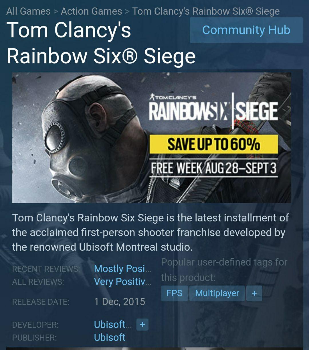 Tom Clancy's Rainbow Six Siege [PC] (Steam)