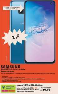 [Überregional Berlin Brandeburg Bremen Ludwigsburg Neckarsulm Stuhr ...] Samsung Galaxy S10e im Debitel Telekom (6GB LTE/Allnet) 19,99€ mtl.