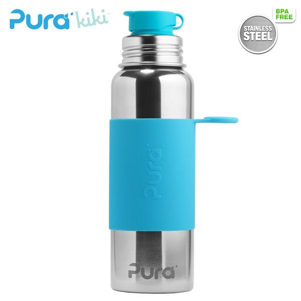 Pur Kiki Edelstahl (18/8) Trinkflasche 800 ml und andere plastikfrei schadstofffrei und langlebig