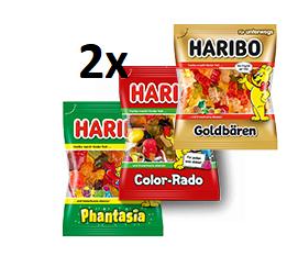 2x Haribo Goldbären, Color-Rado oder Phantasia dank Sofortrabatt nur 0,68€ - nur 0,34€ pro Tüte Haribo
