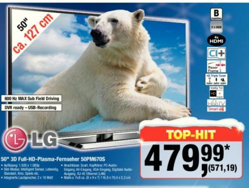 [Offline Metro]: LG 50PM670S Plasma Smart-TV ab 13.12.12