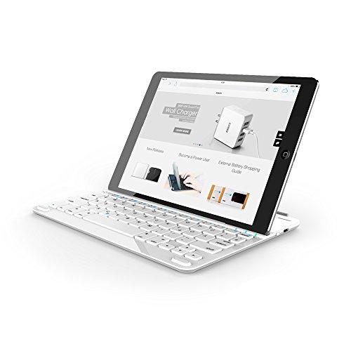 Anker Ultra-Thin Bluetooth Tastatur Keyboard Case Cover fürs iPad mit eingebauter 800mAh Li-ion Batterie (Weiß) [Amazon]