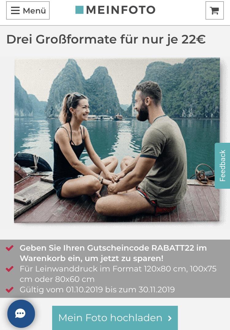 MeinFoto.de - Drei Großformate für jeweils 22€