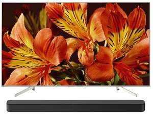 "TV-Angebote: z.B. Sony KD-65XF8577 + Soundbar HT-SF150 (65"", UHD, IPS, Edge-LED, 120Hz, 500cd/m², HDR10 & HLG, 2x Triple Tuner, Android TV)"