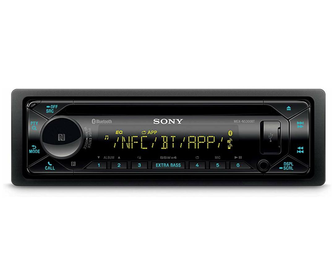 Sony MEX-N5300BT Autoradio mit CD, Dual Bluetooth, NFC, USB & AUX Anschluss, Mikrofon, 35.000 Farben (Vario Color), 55 Watt