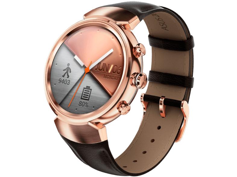 Asus ZenWatch 3 (WI503Q) Smartwatch (118mm, Rosegold mit Leder)