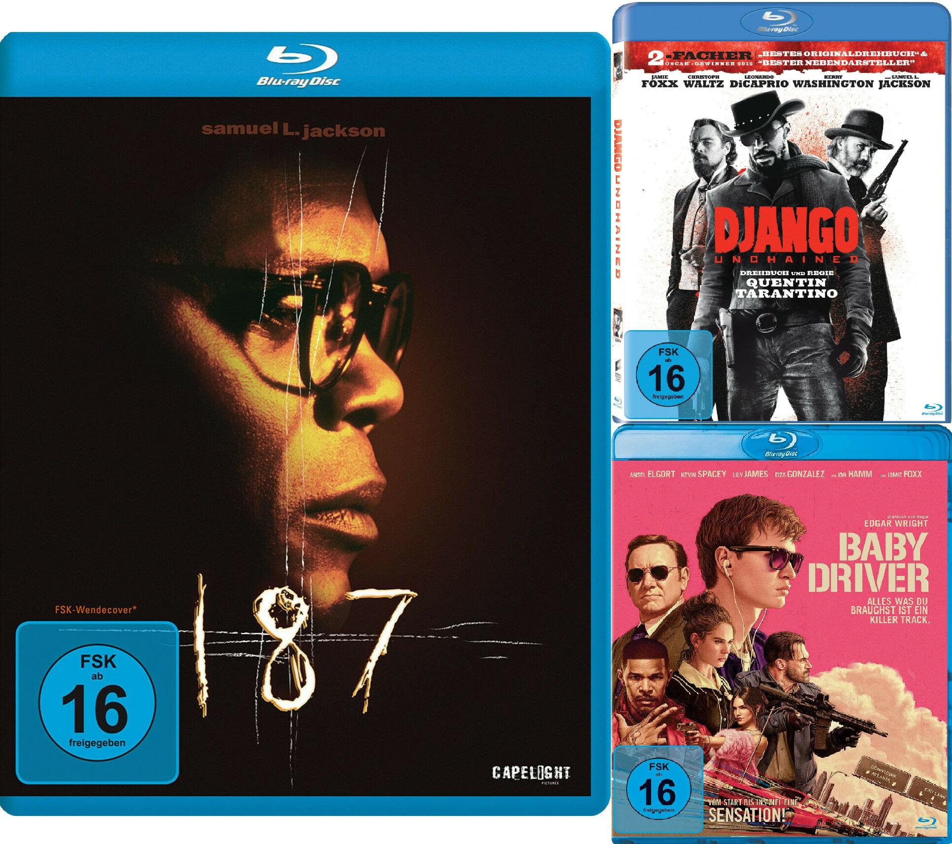 Django Unchained / 187 - Eine tödliche Zahl / Baby Driver auf Blu-ray für je 4,50€ inkl. Versand