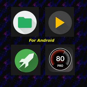 4 Android Sammel-Deals for free Music Player, Game Booster, File Manager, Speed GPS Pro
