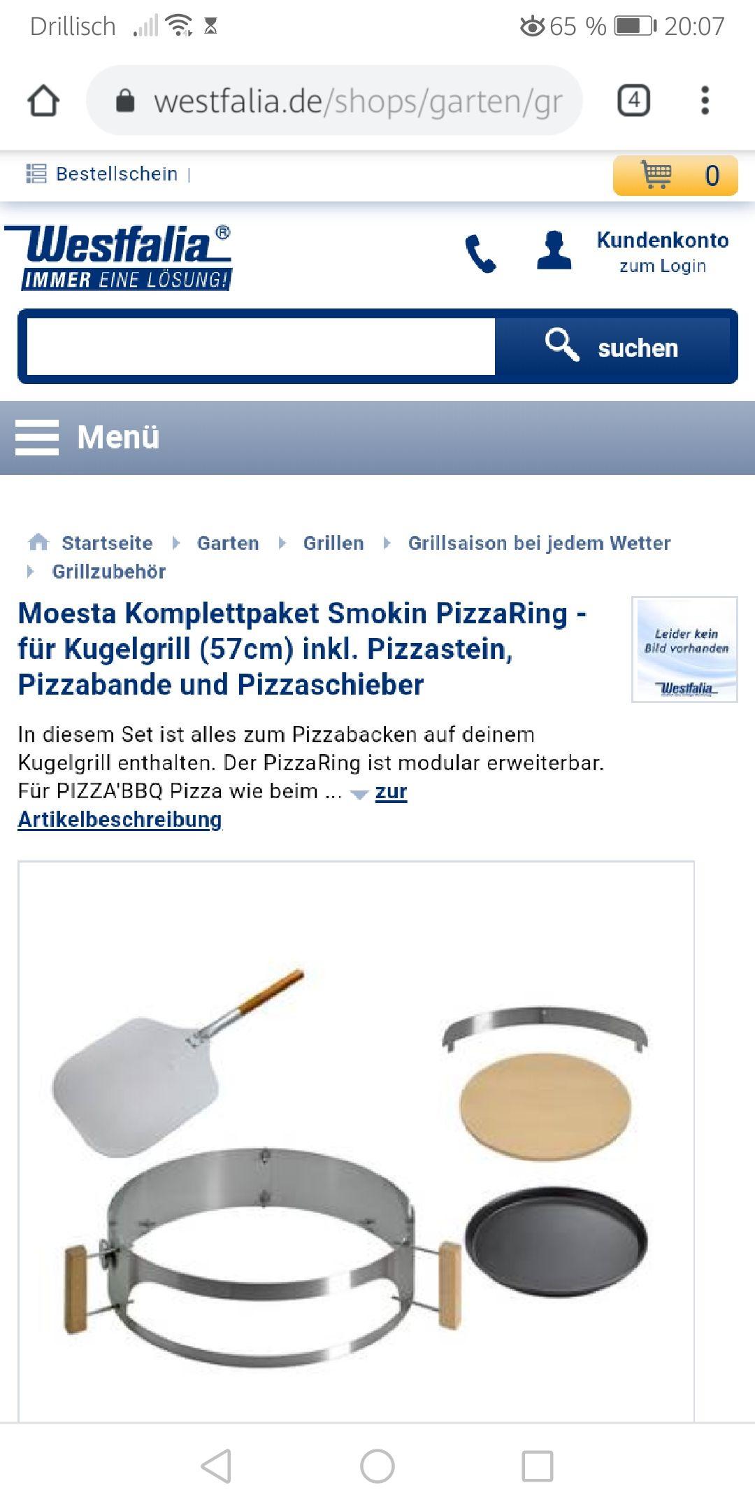 Erweiterung für den Kugelgrill: MoestaKomplettpaket Smokin PizzaRing