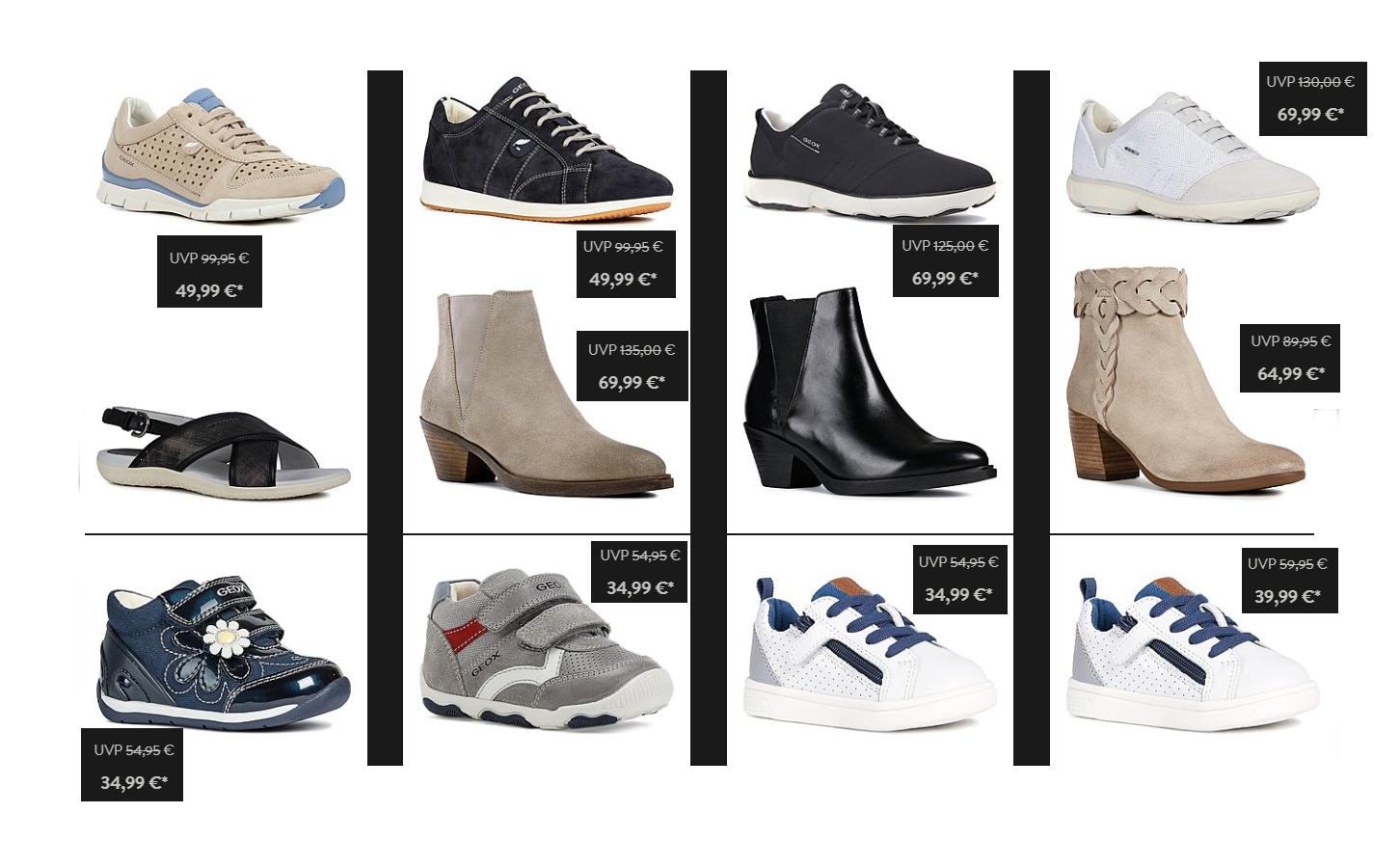 GEOX Schuhe für Herren, Damen und Kinder zum halben Preis