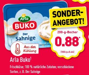 [Aldi Nord] Buko Frischkäse - verschiedene Sorten - mit Marktguru 53 Cent