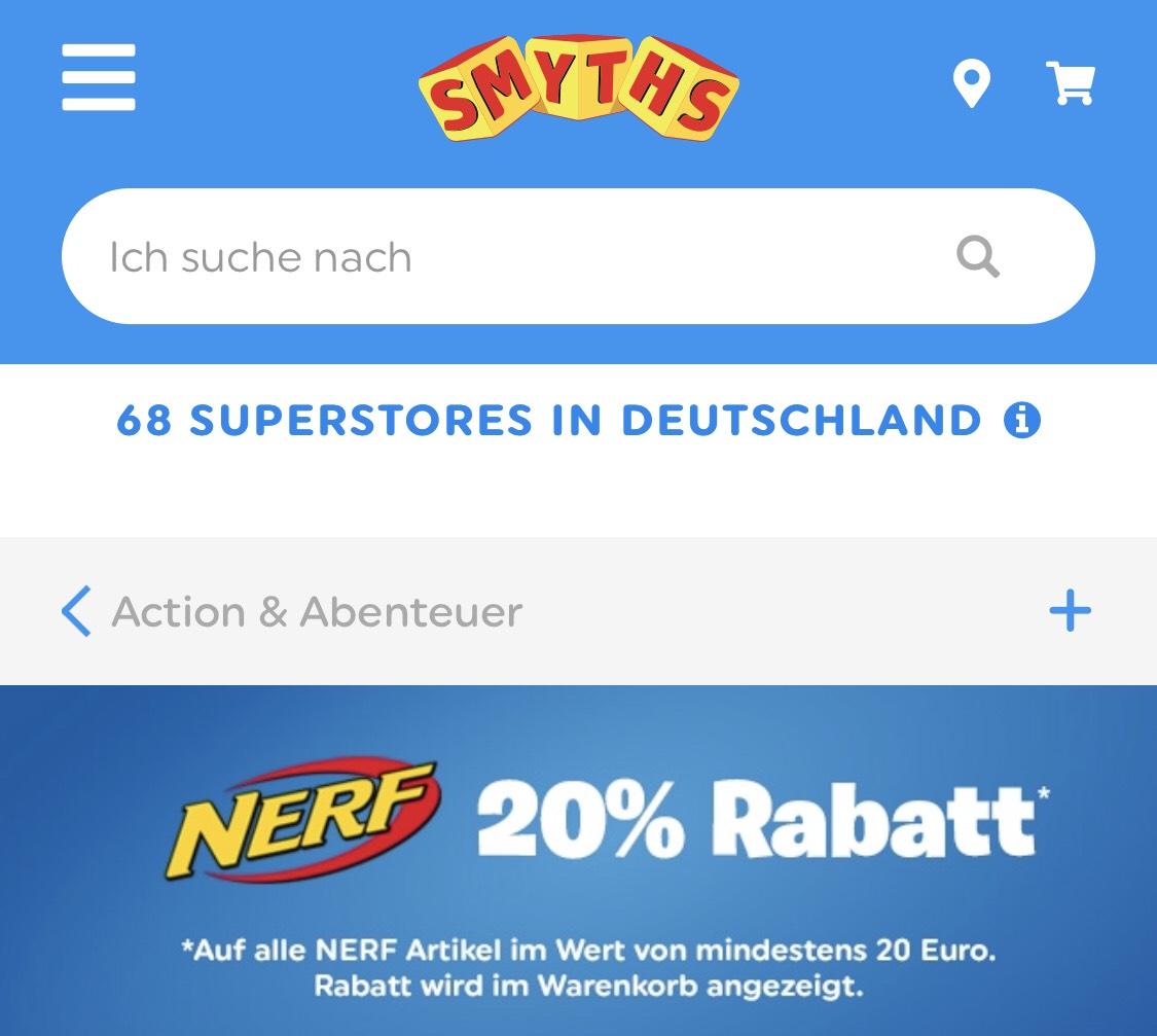 Smyth Toys Rabattaktion: 20% auf Nerf und Beyblade