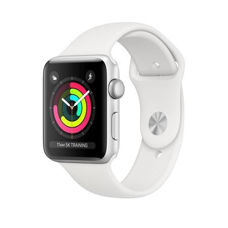 Apple Watch Series 3 GPS + Cellular Silber weiß Aluminium 38mm Black Sport Band inkl. Shoop
