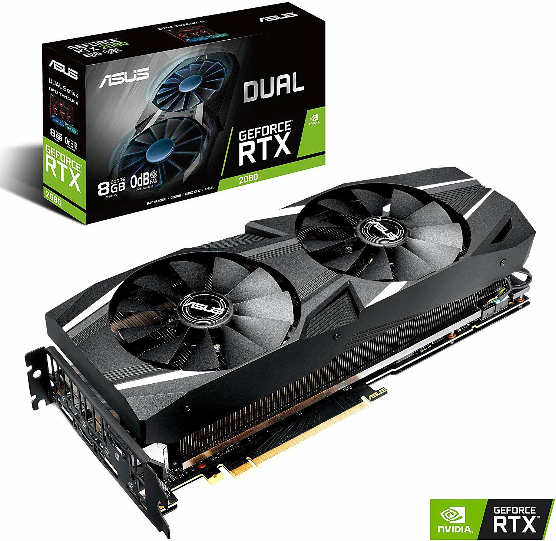ASUS Dual GeForce RTX 2080 8GB GDDR6 Gaming Grafikkarte - 3x DisplayPort, 1x HDMI, 1x USB Type-C