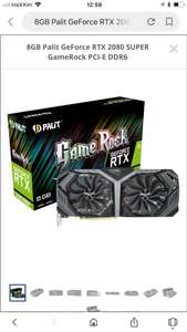 RTX 2080 SUPER Game Rock 8GB DDR6 bei Mindfactory