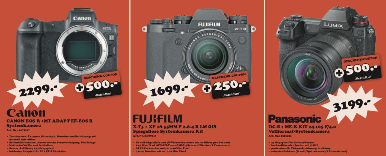 Lokal MediaMarkt Rosenheim - z.B. Fujinon XF55-200F3,5-4,8 Objektiv, Panasonic Lumix DC-S1 Kit, Canon EOS R, Fujifilm X-T3 Kit // Sammeldeal