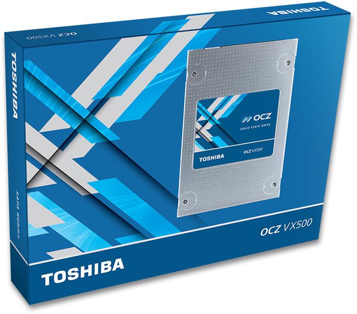 """Toshiba OCZ VX500 2,5"""" SSD 500GB (MLC Speicher, 550MB/s Lesen, 515MB/s Schreiben, 92k/65k IOPS 4K, 256MB Cache (nur 1TB))"""