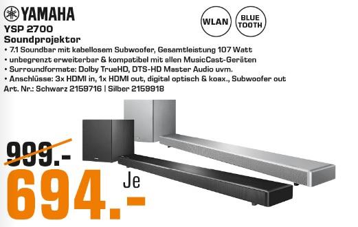 Yamaha YSP 2700 Soundprojektor LOKAL Saturn Münster York Center